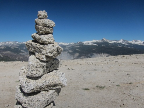 Cairn with a High Sierras backdrop
