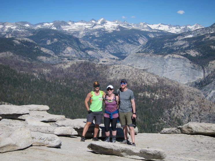 Matt, Jacquie, and Brandon atop Half Dome