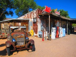 Outside Hackberry General Store