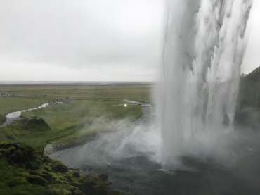 Seljandsfoss from behind