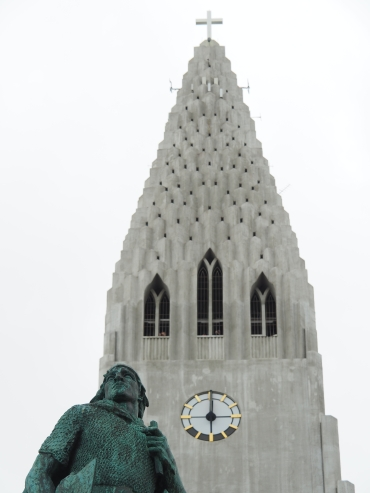 Leif Erikson watching over the town