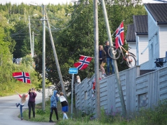 Spectators at the Arctic Race of Norway, a world-class bike race that ran through Tromsø.