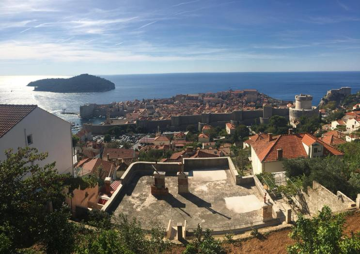 The view of Old Town from where we stayed in Dubrovnik