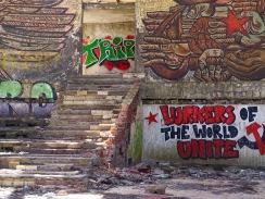 Inside abandoned Buzludzha
