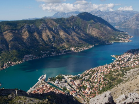Looking down on Kotor from our hike above the fortress