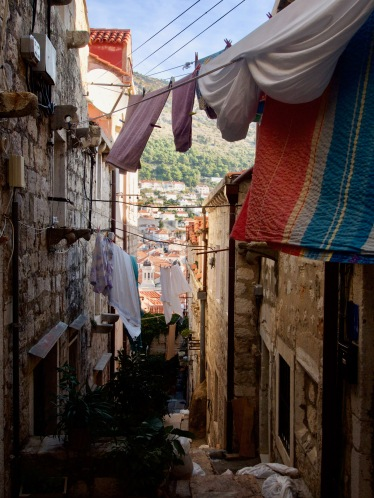 The outskirts of Old Town Dubrovnik, where you almost forget about the Game of Thrones shops and Mexican restaurants below