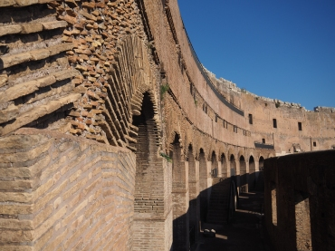 What would have been the nosebleed section of the Colosseum