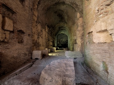 In the underbelly of the Colosseum