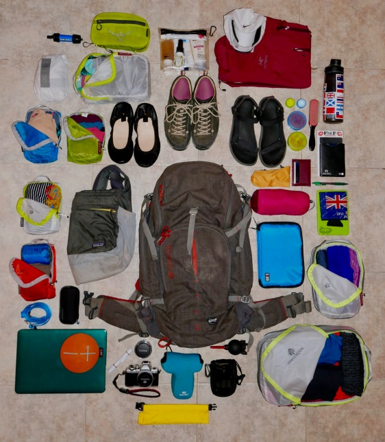 Round-the-world backpacking gear