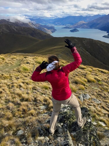 Losing a battle with the wind in the mountains near Wanaka, New Zealand